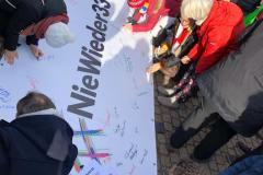 Mahnwache des DGB und Rheinhessen gegen Rechts: Nie wieder Faschismus 15.02.2020